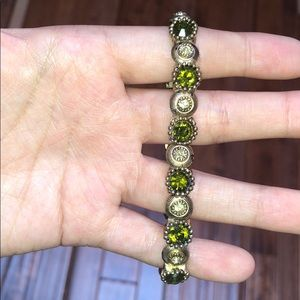 Sabona green and gold bracelet